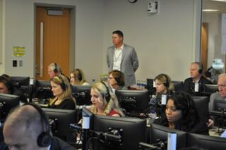 Geoff Turner sees his vision come to life at the final sales competition at the Franklin P. Perdue School of Business.